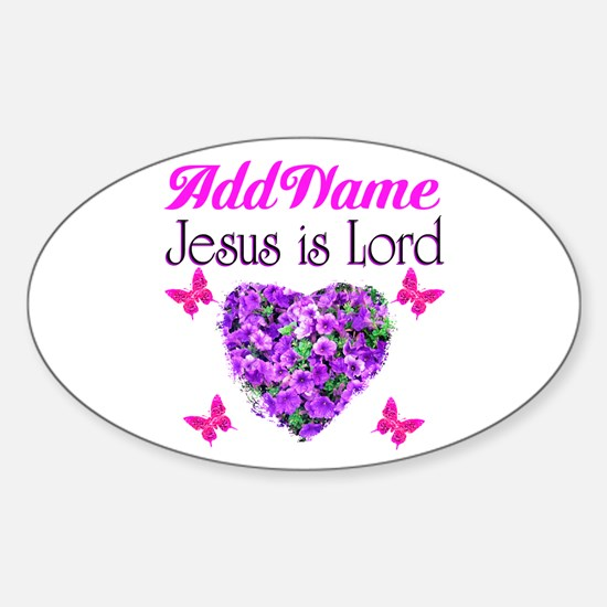 JESUS IS LORD Sticker (Oval)