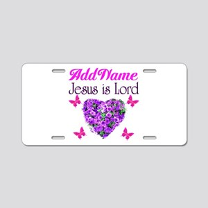 JESUS IS LORD Aluminum License Plate