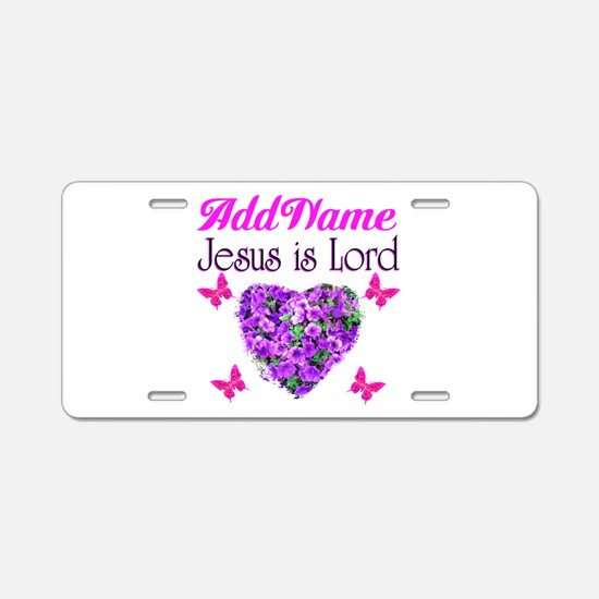 JESUS IS LORD Aluminum License Plate