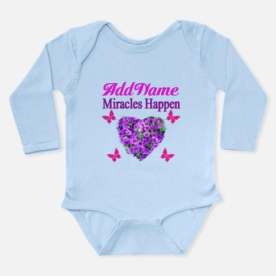 MIRACLES HAPPEN Long Sleeve Infant Bodysuit