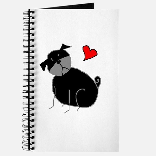 Black StickLuvPug Journal