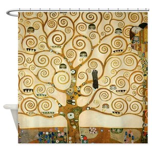 Klimt Tree Life Shower Curtains