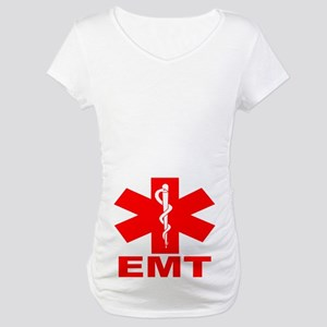 Red EMT Maternity T-Shirt
