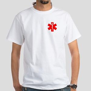 Red EMT White T-Shirt