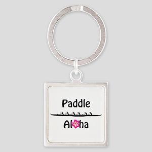 Paddle Aloha Wahine Square Keychain
