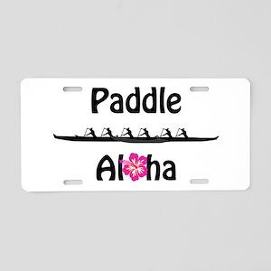 Paddle Aloha Wahine Aluminum License Plate