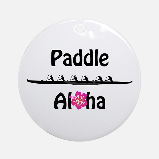 Paddle Aloha Wahine Ornament (Round)