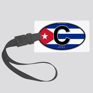 c-oval-colors Large Luggage Tag