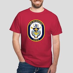 USS Milwaukee LCS-5 Dark T-Shirt