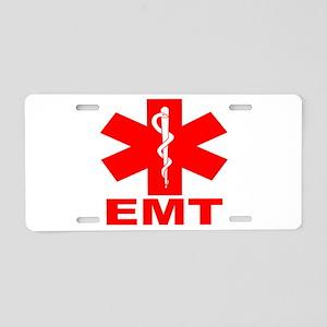 Red EMT Aluminum License Plate