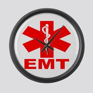 Red EMT Large Wall Clock
