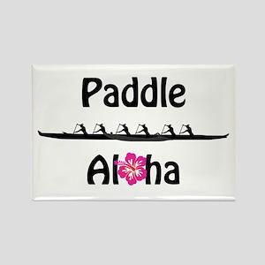 Paddle Aloha Wahine Rectangle Magnet