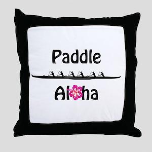 Paddle Aloha Wahine Throw Pillow