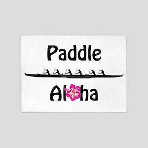 Paddle Aloha Wahine 5'x7'Area Rug