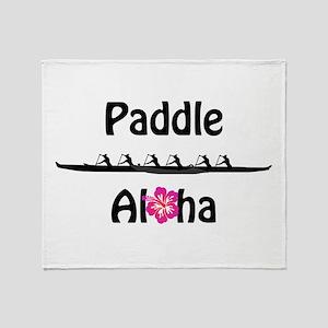Paddle Aloha Wahine Throw Blanket