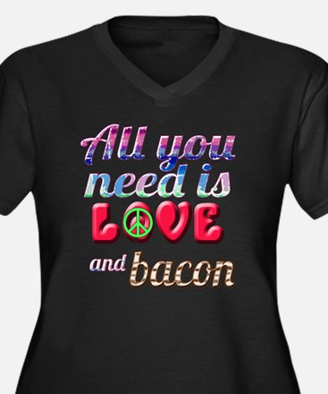 All You Need Women's Plus Size V-Neck Dark T-Shirt