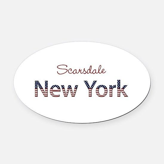 Custom New York Oval Car Magnet