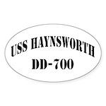 USS HAYNSWORTH Sticker (Oval)