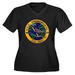 USS HAYNSWOR Women's Plus Size V-Neck Dark T-Shirt