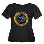 USS HAYN Women's Plus Size Scoop Neck Dark T-Shirt