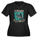 USS HARRY E. Women's Plus Size V-Neck Dark T-Shirt