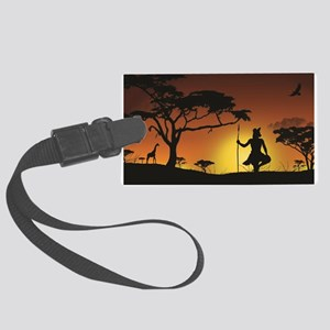 African Sunset Large Luggage Tag