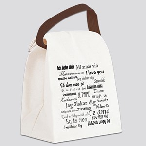 International I love you Canvas Lunch Bag