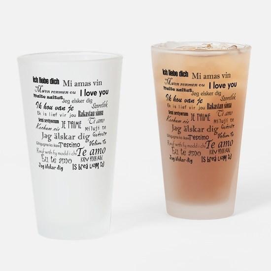 International I love you Drinking Glass