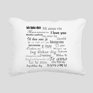 International I love you Rectangular Canvas Pillow