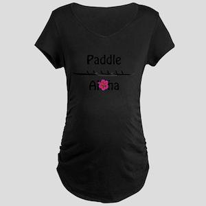 Paddle Aloha Wahine Maternity T-Shirt