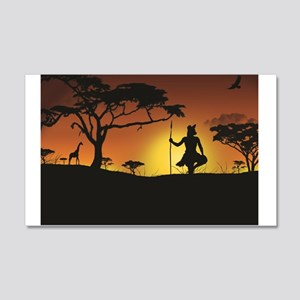 African Sunset Wall Decal