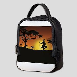 African Sunset Neoprene Lunch Bag