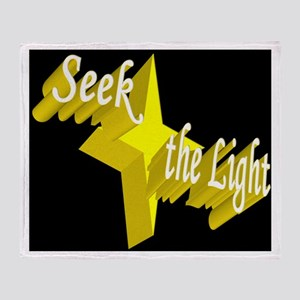 Seek the Light Throw Blanket