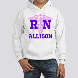 Pink and Purple personalized RN Hooded Sweatshirt