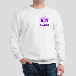 Pink and Purple personalized RN Sweatshirt