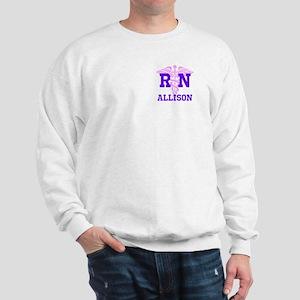 Pink and Purple personalized RN Sweatshirt
