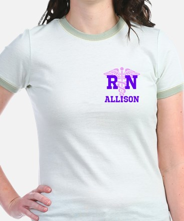 Pink and Purple personalized RN T
