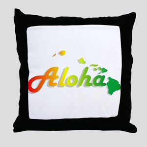 Aloha - Rasta Throw Pillow