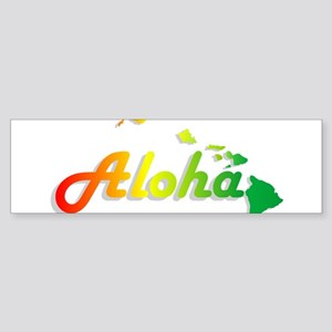 Aloha - Rasta Bumper Sticker