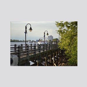 River Walk Wilmington  Rectangle Magnet