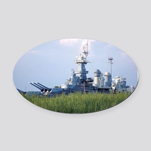 USS North Carolina  Oval Car Magnet