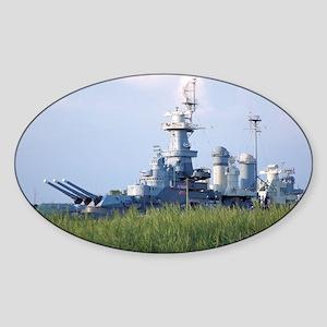 USS North Carolina  Sticker (Oval)