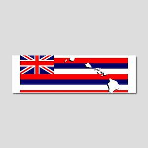 Flag - Hawaiian Island Car Magnet 10 x 3