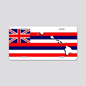 Flag - Hawaiian Island Aluminum License Plate