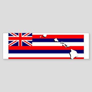Flag - Hawaiian Island Bumper Sticker