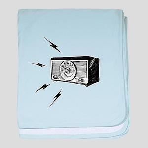 Old Radio! baby blanket