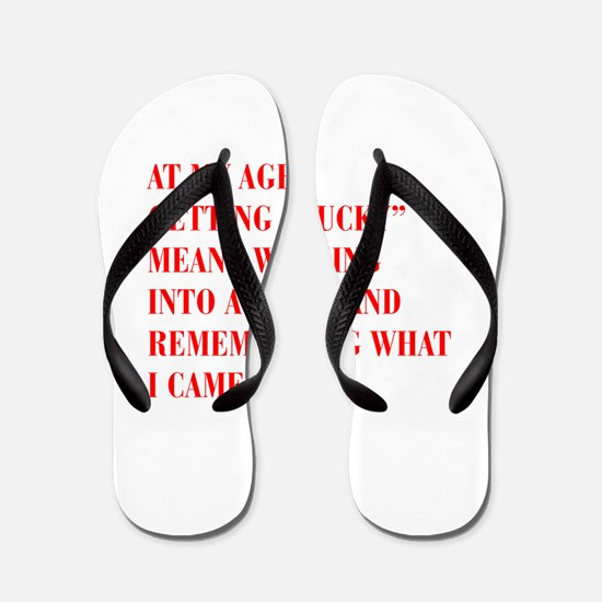 at-my-age-BOD-RED Flip Flops