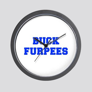 BUCK-FURPEES-FRESH-BLUE Wall Clock