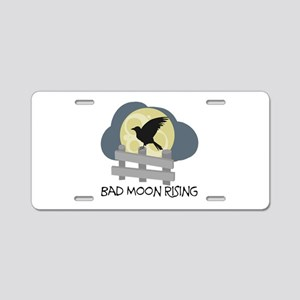 Bad Moon Rising Aluminum License Plate