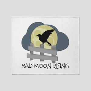 Bad Moon Rising Throw Blanket